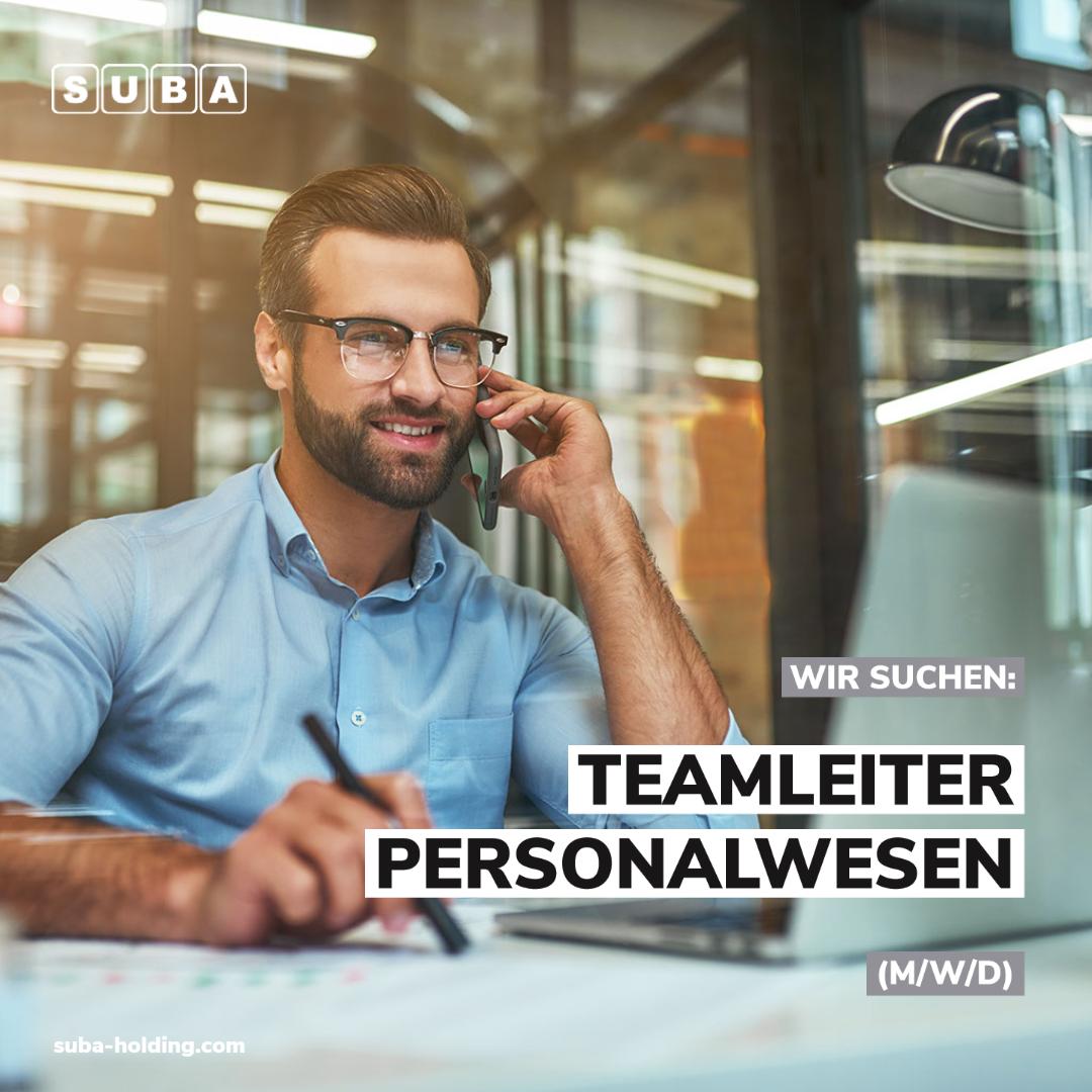Job der Woche - Teamleiter Personalwesen (m/w/d)